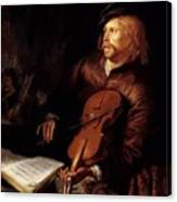 Violin Player 1653 Canvas Print