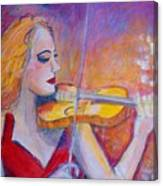 Violin Player Canvas Print