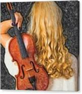 Violin Woman - Id 16218-130709-0128 Canvas Print