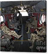 Vips In A Ch-47 Chinook Helicopter Canvas Print