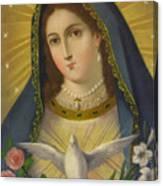 Virgen De La Paloma Canvas Print