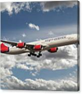 Virgin Airbus A340 G-vgas Canvas Print