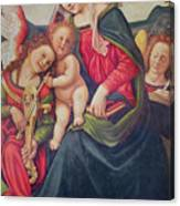 Virgin And Child And Angel Musicians  Canvas Print