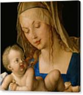 Virgin And Child With A Pear Canvas Print