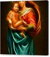 Virgin Mary And Baby Jesus Canvas Print