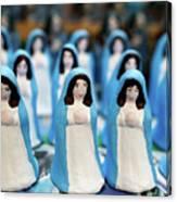 Virgin Mary Figurines Canvas Print