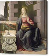 Virgin Mary, From The Annunciation Canvas Print