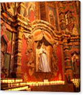 Virgin Mary Statue Candles Mission San Xavier Del Bac Canvas Print