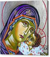 Virgin Of Tenderness Eleusa Canvas Print
