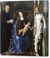 Virgin Of The Knight Of Montesa  Canvas Print