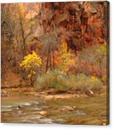 Virgin River At The Narrows Canvas Print
