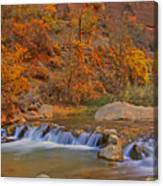 Virgin River In Autumn Canvas Print