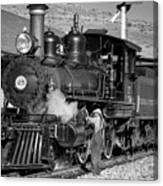 Virginia And Truckee Engine 25 Monochrome Canvas Print