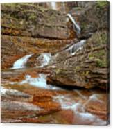 Virginia Fall Glacier Cascades Canvas Print