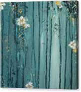 Viridian Bloom Canvas Print