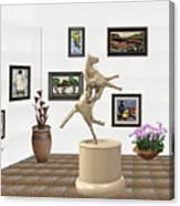 Virtual Exhibition_statue Of A Horse Canvas Print