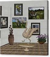 virtual exhibition_Statue of swan 23 Canvas Print