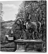 Viscount Gough On Horseback. Canvas Print