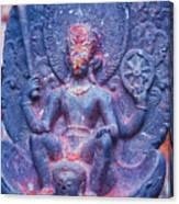 Vishnu Astride Garuda Canvas Print
