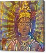 Vishnu Krishna Face Canvas Print