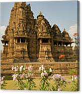 Vishvanatha Temple In Khajuraho  Canvas Print