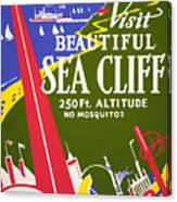 Visit Beautiful Sea Cliff Canvas Print