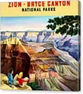 Visit Grand Canyon - Restored Canvas Print
