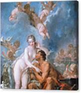 Visit Of Venus To Vulcan Canvas Print