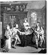 Visit To The Quack Doctor, 1745 Canvas Print
