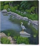 Visiting Heron Canvas Print