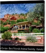 Visitor Center Best Friends Animal Sanctuary Angel Canyon Knob Utah 02 Text Black Canvas Print