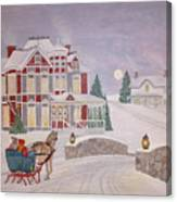 Visitors - Christmas Eve Canvas Print