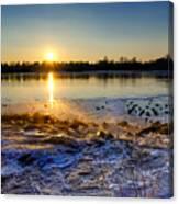 Vistula River Sunset 3 Canvas Print