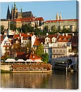 Vitus Cathedral Over Vltava  Canvas Print