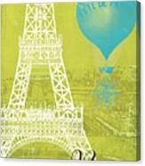 Viva La Paris Canvas Print