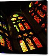 Vivacious Stained Glass Windows Canvas Print