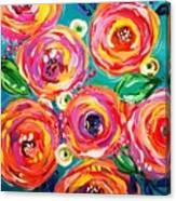 Vivid Flora Canvas Print