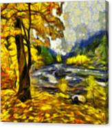 Vivid Pipeline Trail Canvas Print