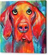 Vizsla Dog Portrait Canvas Print