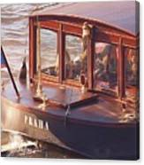 Vltava River Boat Canvas Print