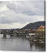 Vltava River Scene Canvas Print