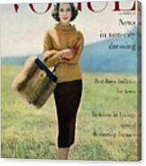 Vogue Magazine Cover Featuring Model Va Taylor Canvas Print
