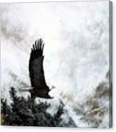 Voice Of The Eagle Reaches Toward The Heavens Canvas Print