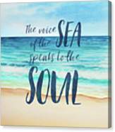 Voice Of The Sea Canvas Print