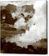 Volcanic Steam Canvas Print