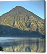 Volcano And Reflection Lake Atitlan Guatemala 3 Canvas Print