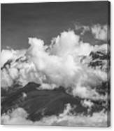 Volcano Chachani In Arequipa Peru Covered By Clouds Canvas Print