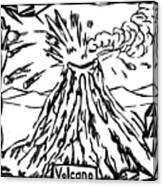 Volcano Maze Canvas Print