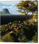 Volcano View Canvas Print