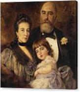 Volkov Manzei Family Makarov. 1890 Canvas Print